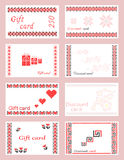 Gift and discount cards Royalty Free Stock Images