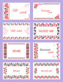 Gift and discount cards Royalty Free Stock Image