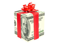 Gift dollar Royalty Free Stock Image