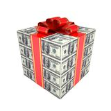Gift of dollars Stock Photos