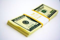 Gift dollars Royalty Free Stock Images