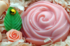 Gift. Domestic soap Royalty Free Stock Images
