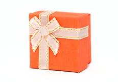 Gift-doos sinaasappel Stock Foto's