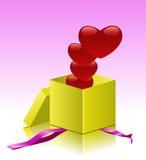 Gift in een doos. Royalty-vrije Stock Fotografie