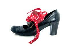 Gift in een schoen Royalty-vrije Stock Foto's