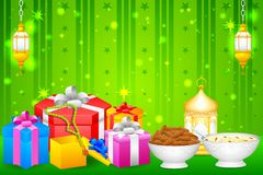 Gift for Eid festival. Easy to edit vector illustration of gift for Eid festival Stock Photos
