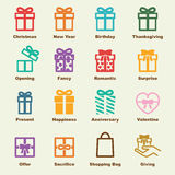 Gift elements Royalty Free Stock Photo