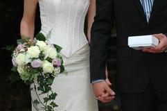 Gift en boeket royalty-vrije stock fotografie