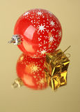 Gift en Kerstmisdecoratie Stock Afbeelding