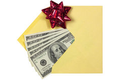 Gift in Envelope Royalty Free Stock Photo