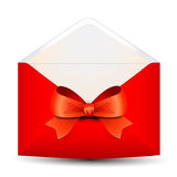 Gift envelope with bow Stock Image