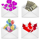 Gift envelope Royalty Free Stock Photography