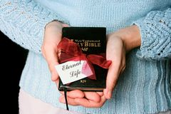 The Gift of Eternal Life. For use on Christian church bulletins, evangelism blogs or web sites. The gift of eternal life contained the person of Jesus Christ royalty free stock photo