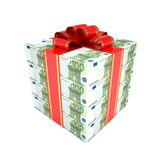 Gift of the euro Royalty Free Stock Images