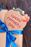 Gift and Father`s Day card. Stock Photography