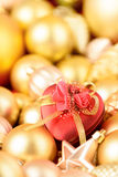 Gift for the favorite. Gold collection Royalty Free Stock Image