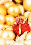 Gift for the favorite. Gold collection Stock Images