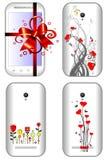 Female smart phones Stock Photos