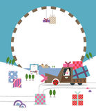 Gift festival B. Illustration for special festival with gifts Royalty Free Stock Photos