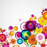 Gift festive floral design background. Spring border. Gift festive floral design vector background Royalty Free Stock Image