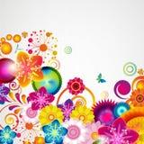 Gift festive floral design background. Spring border. Gift festive floral design vector background Royalty Free Stock Images