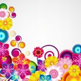 Gift festive floral design background. Spring border. Gift festive floral design vector background Stock Photos
