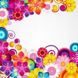 Gift festive floral design background. Spring border. Gift festive floral design vector background Stock Photography