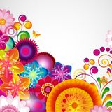 Gift festive floral design background. Spring border. Gift festive floral design vector background Royalty Free Stock Photo