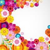 Gift festive floral design background. Spring border. Gift festive floral design vector background Stock Photo