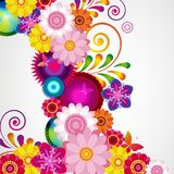 Gift festive floral design background. Spring border. Gift festive floral design vector background Royalty Free Stock Photos