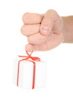 Gift on  finger. On  white background Royalty Free Stock Image