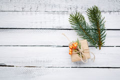 Gift and fir Stock Photo