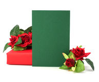 Gift with floral decor Stock Image