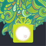 Gift with floral green Royalty Free Stock Image