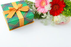 Gift and flower Stock Photography