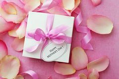 Gift and flowers stock images