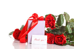 Gift with flowers and gratitude