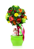 Gift. Flowers in a green pot Stock Photos