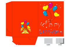 Gift folder for birthday Stock Photos