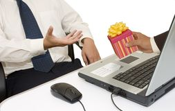 Gift For Businessman Royalty Free Stock Images