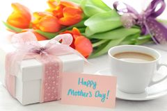Free Gift For Mother S Day Royalty Free Stock Photos - 24119288