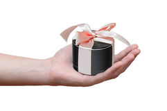 Gift in the form of portable mobile speaker Stock Images