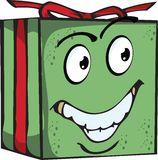 Gift Funny expression characters Stock Image