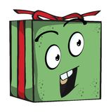 Gift Funny expression characters Royalty Free Stock Images