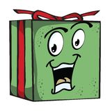 Gift Funny expression characters Royalty Free Stock Image