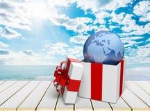 Gift. Christmas christmas present  box box holiday red Royalty Free Stock Photography