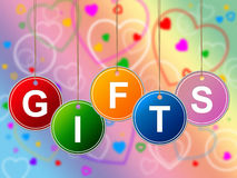 Gift Gifts Represents Greeting Surprises And Celebrate Royalty Free Stock Photography
