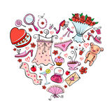 Gift for girl. On Valentine's day in heart shape Stock Photo