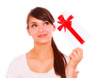 Gift girl Stock Photography