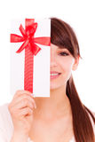 Gift girl Royalty Free Stock Photos